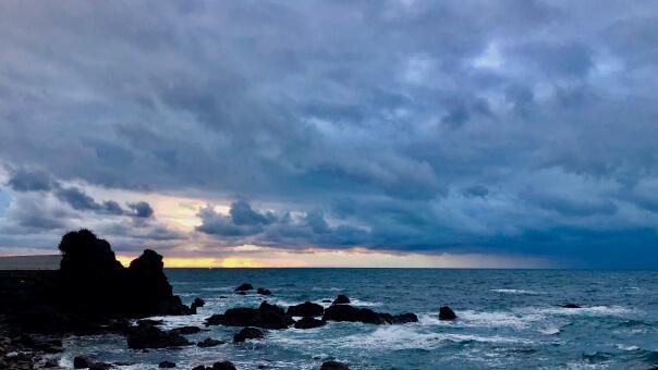 奄美大島の冬の服装、雨の日