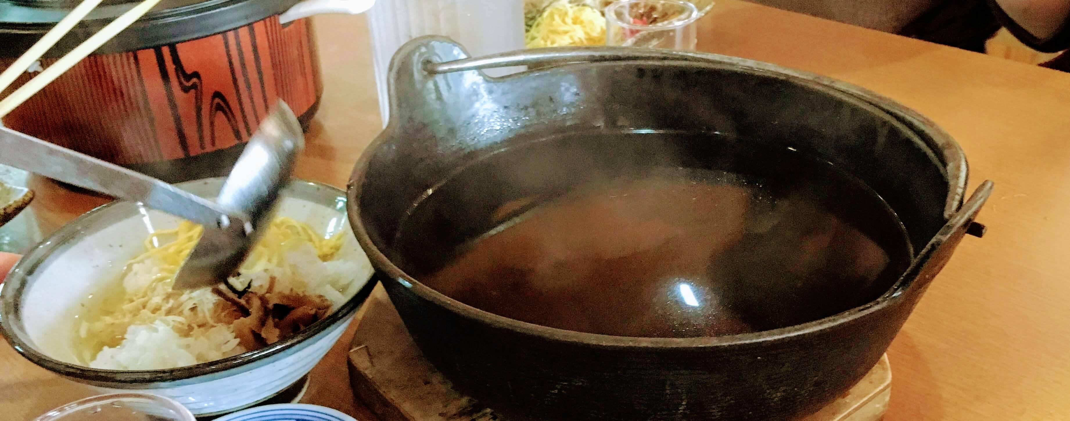 奄美大島の鶏飯(けいはん)のひさ倉の鶏飯スープ