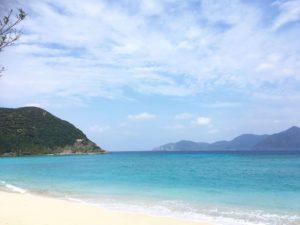 美しい海の景色を見ながらの旅