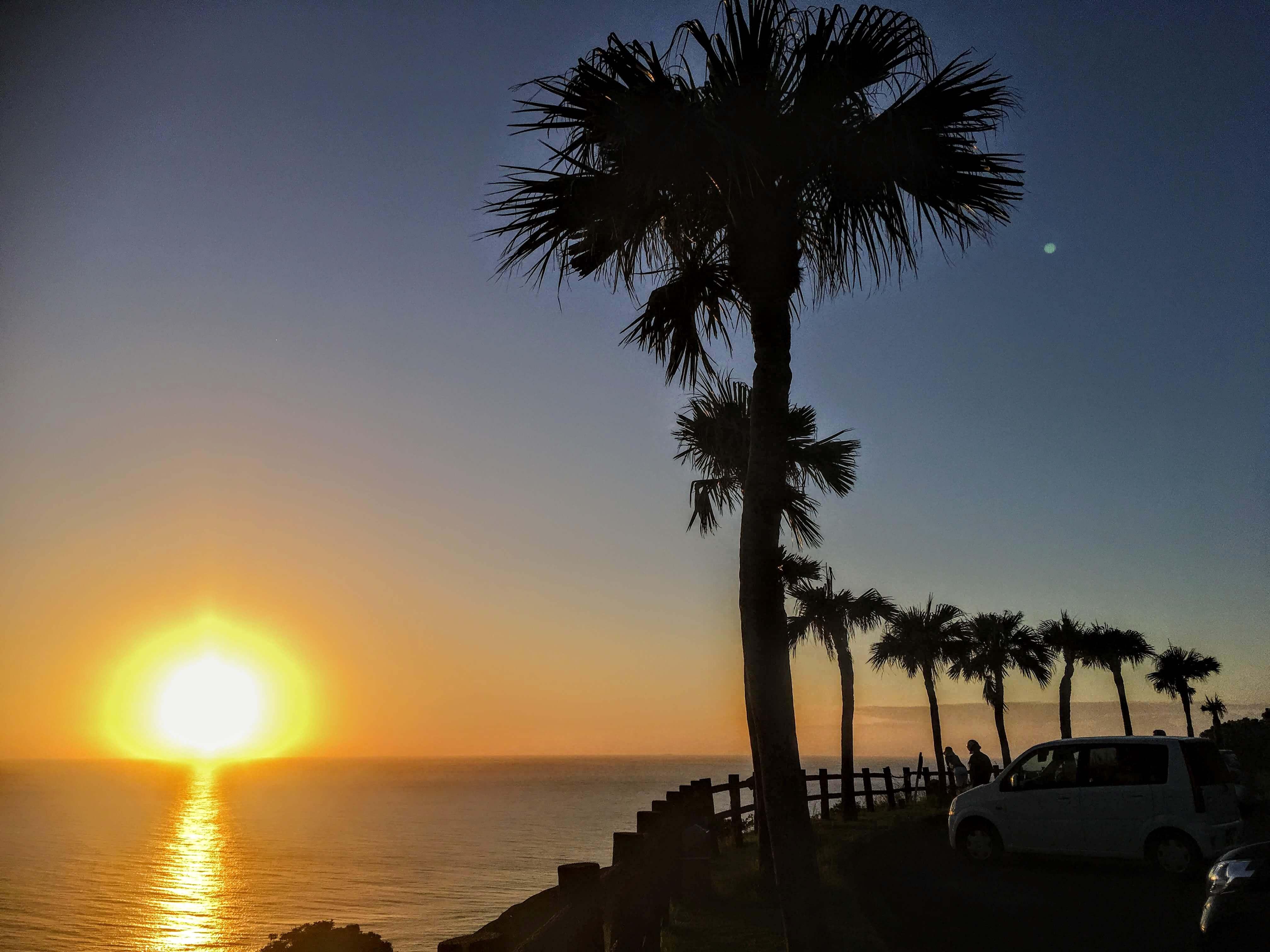 大浜海浜公園のサンセット