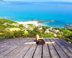 奄美の海と空の間でのんびり