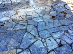 金屋町の石畳の北斗七星